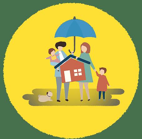 Sua família e sua casa totalmente seguras