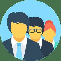 Equipe empresarial